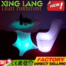 contemporary fancy illuminated ergonomic table lanterns PE plastic RGB color change waterproof LED executive table