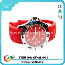 Fashional promotional alloy case water resist watch couple lovers quartz silicone wrist watch