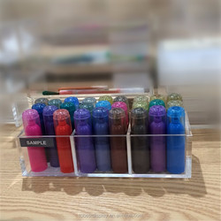 3 Compartment Acrylic Brush Holder, Pencil Holder Boxes