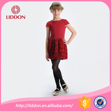 Soft kids girl in striped nylon footed pantyhose hosiery factory