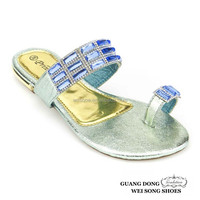 excellent quality low price fashion fancy toe ring design wholesale slippers lady