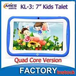 """Cheapest Wholesale 7"""" Inch Quad Core 512MB 8GB WIFI Cameras Android 4.4 Tablet PC For Kids"""