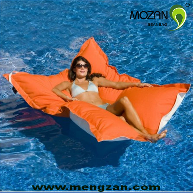 Outdoor lounger chair - Giant Water Amp Stain Resistant Beanbag Pool Floating Cushion