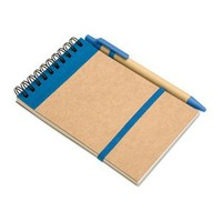 Customized small kids writing pads/kraft paper cover spiral writing pad with pen