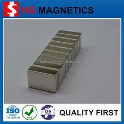 High Strength Strong Block Shaped Neodymium Motor Magnet