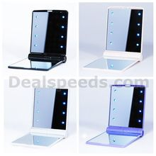 Portable LED Makeup Mirror Cosmetic With 8 LED Lamp(4 Colors)
