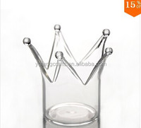 classic glass candle holder for birthday decoration