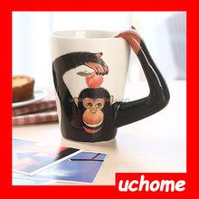UCHOME cute animal designs 3d ceramic coffee mug