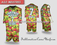 Digital camo sublimada los uniformes del baloncesto/de sublimación de los uniformes del baloncesto