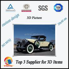 3d picture moving/3d lenticular car images/home decoration pictures
