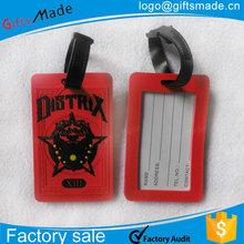 Custom photo printed pvc luggage tag