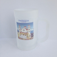 frosted beer mug with handle, frosted glass mug with customer's logo