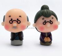 old couple pvc figure, diy movable vinyl figure, vinyl figure production