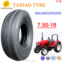 China cheap high quality wholesale Hot Sale TAIHAO BRAND F2 pattern 7.50-18 farm tyres agricultural tyres front tractor tyres