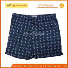 fashion comfortable hot sales in Korea loose l all over print men boxer underwear oem