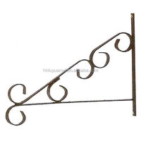 Powder Coated Metal Wall Hanging Basket Hooks