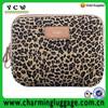 Leopard pattern laptop bag,canvas notebook sleeve,case bag