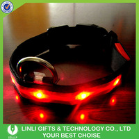 New Design Popular Colorful Nylon LED Collar For Dogs