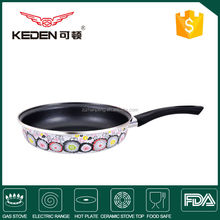 High quality Porcelain enamel fry pan cookware