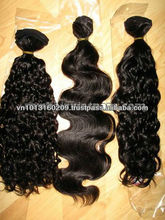 vietnam human double drawn machine weft virgin no shedding and tangle hair