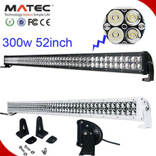 2015 new light 300w 50inch high power black and write offroad led light bar cover with spot flood and combo beam
