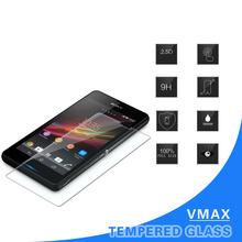 2015 Hot custom 9H 2.5D 0.15 0.20 0.33mm Asahi glass smart phone tempered glass screen protector for Sony Z1