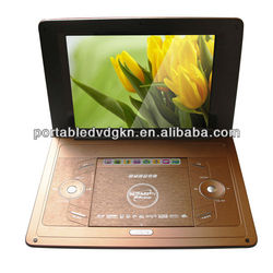 12 inch home and portable use DVD player with game player FM Remote kids compact usb dvd player