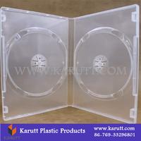 Custom square clear plastic 1~2 CD DVD storage case box