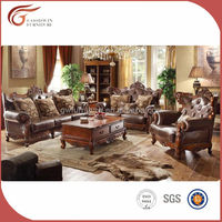 American style antique luxury living room sofas furniture A91
