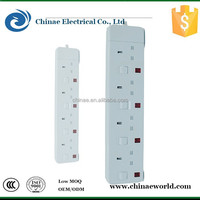 3000W 5 gang switch and socket/multiple socket outlet/ AC power electric socket outlet