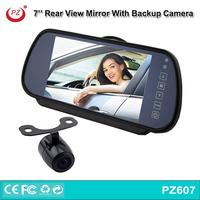 factory supply Popular! rear view backup camera 7'' lcd monitor mirror for car