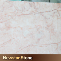 Newstar polished red vein white pink marble