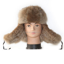 Wholesale Russian Style Winter Men Rabbit Fur Hat