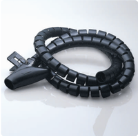 PE Plastic White Black Spiral Wrapping Bands with Clamp 15A
