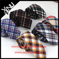 100% Cotton Ties with Different Beautiful Checks Tie Flannel