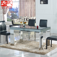 knock down Home Furniture Modern Tempered Glass Dining Table
