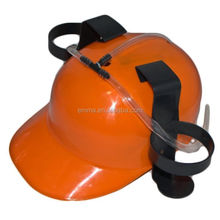 Hot selling plastic beer hat cheap beer helmet drinking hat cap game drink can holder fun party HT4381