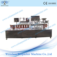 Automatic soft-drink beverage filling&capping and sealing machine