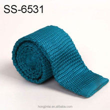 Polyester knitted tie,Hand made ties,Microfiber ties fashion design solid color royalblue color mens tie necktie SS6531