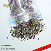 Semi Precious AAA Round1.75 mm Mix Color Natural Tourmaline