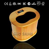 Portable far infrared physical therapy massage foot sauna spa barrel for detox