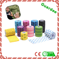 Colored Elastic Flexible Cohesive bandage with Kid (CE Approve)
