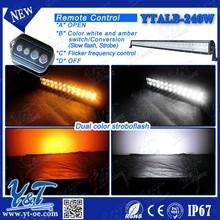 Y&T flash led light bar! 41.5 inch offroad emergency 240w 4x4 RGB MIXED LED effect color bar