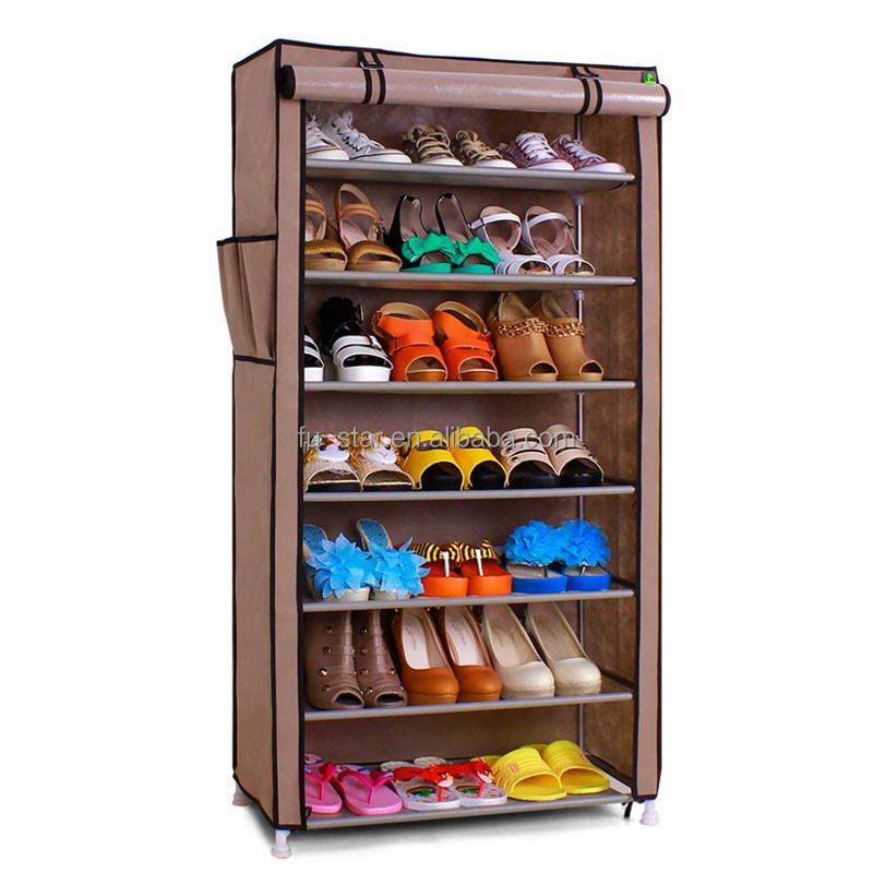 portable bedroom furniture shoe organizer fabric shoe