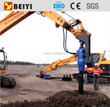 BEIYI excavator drilling rig attachment/auger drive for gound hole drilling machine
