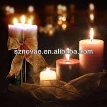 CE Certified Christmas Candle Light Up LED Canvas Painting with Various Size