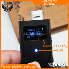 Alibaba China Market 2015 Newest Dry Herb Vaporizer Mod Vaporizer 18650 Mod Herbstick Deluxe Mod with High quality