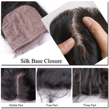 Cheap Stock Virgin Brazilian Human Hair Silk Base Closures Straight Freestyle Parting 3 Part 4x4 Lace Closure Silk Top Closure
