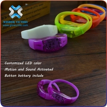 2015 Light Up LED Bracelet With Flashing,LED sound activated flashing bracelet
