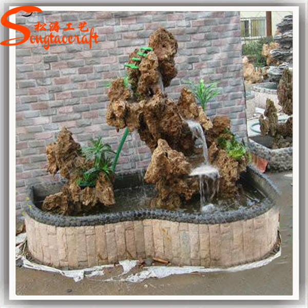 Made In China Factory Cheap Price Artificial Fiberglass Waterfall Rock Fountain Fake Stone